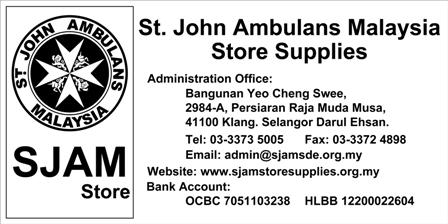 St John Ambulans Malaysia - Store Supplies